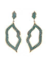 Amethyst By Rahul Popli Green Silver Stud Earrings - B00OYSBO0O