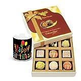 Toothsome Treat Of White Chocolates With Birthday Mug - Chocholik Luxury Chocolates