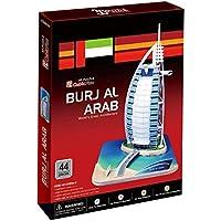 Country 3D Burj Al Arab Dubai Jigsaw Puzzle Cubic Fun, Multi Color (44 Pieces)