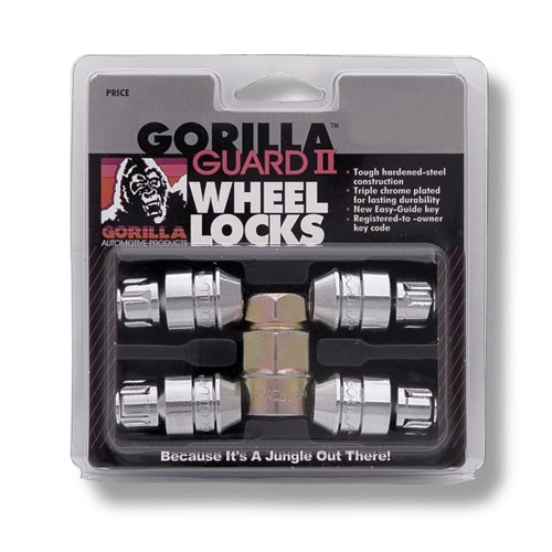 Gorilla Automotive 61631N Chrome Acorn Gorilla Guard II Wheel Locks – Set of 4 (12mm x 1.50 Thread Size)