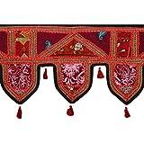 Ethnic Toran Violet Cotton Floral Patch Work Toran Décor By Rajrang