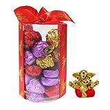 Chocholik's New Luxury Round Chocolate Box With Small Ganesha Idol - Gifts For Diwali