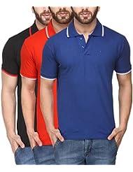 Scott Young Men's Premium Cotton Polo T-shirt - Pack Of 3