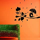 Decal Style Angry Bird On Branch Wall Sticker Small Size-15*14 Inch