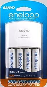 Amazon.com: Sanyo Eneloop NiMH Battery Charger with 4AA