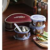 Friends Real Food Lunch Box Set Of 3 Air Tight Containers (Healthy Tummies Happy Tummies)