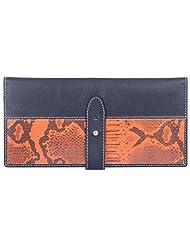 Leder Mart 2403 ORG Women's Wallet (Black & Orange, FL016 ORG)