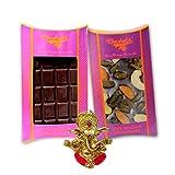 Chocholik Belgium Chocolate Gifts - Bittersweet Combo Of Chocolate Bars With Ganesha Idol - Diwali Gifts