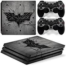 Elton Batman Logo Theme 3M Skin Sticker Cover For PS4 Pro Console And Controllers (Multicolor)