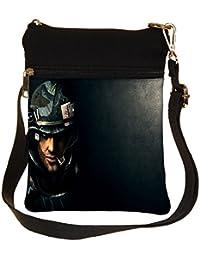 Snoogg Colonial Marine Cross Body Tote Bag / Shoulder Sling Carry Bag