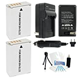 2-Pack EN-EL22 High-Capacity Replacement Batteries With Rapid Travel Charger For Select Nikon Digital Cameras....