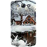For Samsung Galaxy S3 I9300 :: Samsung I9305 Galaxy S III :: Samsung Galaxy S III LTE Beautiful Home ( Beautiful Home, Ice, River, Ice Home, Tree, Beautiful Ice, Winter ) Printed Designer Back Case Cover By FashionCops