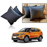 Car Vastra Cushion Set Black Color For Car & Home - Hyundai Creta -Set Of 2Pcs