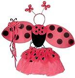 Ladybug Costume Tutu Set (4 pc)