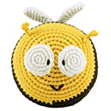 Dandelion Hand Crocheted Roly Poly Rattle Ball, Bee