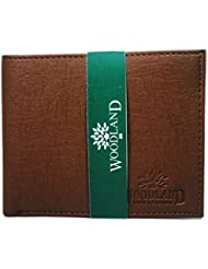 Woodland Artificial Leather Tan Wallet For Men's/Boy's