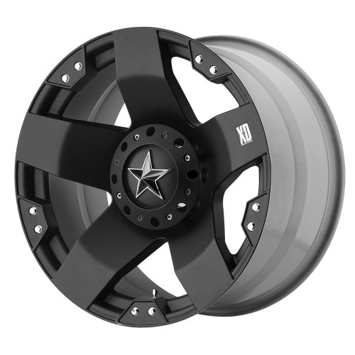 XD Series by KMC Wheels XD775 Rockstar Matte Black Wheel (20×10″/8x170mm, -24mm offset)