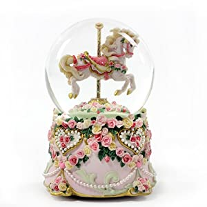 Amazon.com - Hearts and Roses Water Globe - Snow Globes