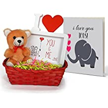 TiedRibbons® Combo Gifts For Boyfriend Combo Pack(Small Teddy,Photo Frame (Replaceable Photo/Poster),Bamboo Basket...