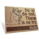 Yoda Says Plaque Large Large