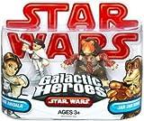 Star Wars 2009 Galactic Heroes 2-Pack Padme Amidala and Jar Jar Binks