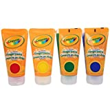 Crayola Washable Finger Paints, 4-Count ( 4 ounce tubes ), Red, Blue, Yellow and Green