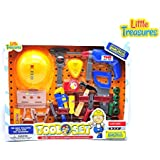 Creative Tool Set Realistic Pretend Play Toolkit Toy For 3+ Preschoolers Interesting Mock Toy Drill, Safety Helmet...