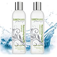 LuxeOrganix Argan Oil Shampoo Conditioner Free Of Sulfates Parabens Sodium Chloride - Proven To Protect + Enhance...