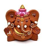 ExclusiveLane Terracotta Handpainted Sitting Ganesha With Elephant Like Ears