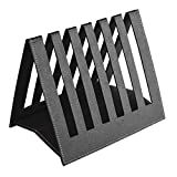 Eco friendly Ecoleatherette Handcrafted Magazine Holder, Magaizne Rack Newspaper Holder Newspaper Rack Table Top (Black)