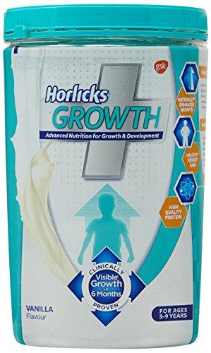 Horlicks Growth Plus Health And Nutrition Drink Pet Jar - 400 G (Vanilla Flavor)