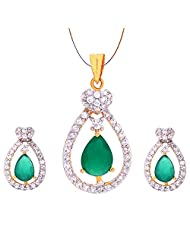 Jewelshub Gold & Silver Gold Plated Pendant Set For Women - B00XCY0S6C