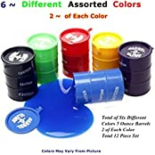 12 Piece Barrel O Slime 5 Oz Barrels 3 Inches Tall Assorted Colors Toy BOS-12