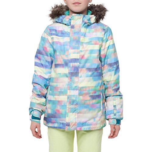 O'Neill Girls Radiant Snow Jacket Size 10 Blue Aop