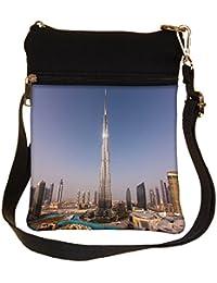 Snoogg Burj Khalifa Cross Body Tote Bag / Shoulder Sling Carry Bag