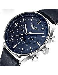 Gosasa Luxury Top Brand New Fashion Men's Big Blue Dial Designer Quartz Watch Male Wristwatch