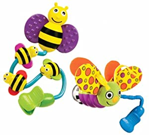 Sassy Busy Bee and Fun Firefly Stroller Clip On Toys