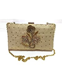 Women Girl Wedding Party Club Evening Gold Clutch Wallet Purse Christmas Sale