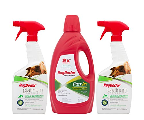 Rug Doctor - Pet Care Carpet Cleaner Pack - White/red/green