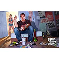 GTA - Grand Theft Auto V (R) Game Poster - 12x19 Inch Art Material