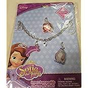 Qiyun New Disney Sofia The First Interchangeable Charm Bracelet Bracelet 3 Charms