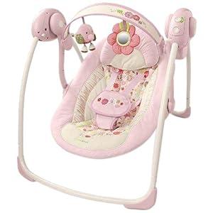 Baby swing bright starts comfort harmony for Baby garden swing amazon