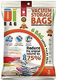DIBAG ® - 6 Piezas (130*90 cm) Bolsas de almacenaje al vacío .Bolsas ahorradoras de espacio para ropa, edredones , mantas & almohadas