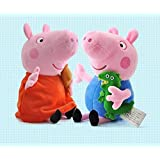 2pcs Peppa Pig & George Pig Plush Soft Toy Action Figure Cute Gifts For Kids