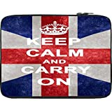 Snoogg Keep Calm And Carry On 12 To 12.6 Inch Laptop Netbook Notebook Slipcase Sleeve