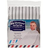 Old Fashion Cloth Black White Striped Styles Styling Cape Hair Salon Barber Shop