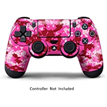 Elton PS4 Controller Designer 3M Skin For Sony PlayStation 4 DualShock Wireless Controller - Digicamo Pink, Skin For One Controller Only