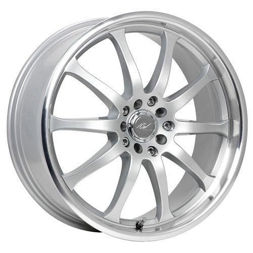 ICW Racing 211MS Bonzai 15×6.5 5×100/5×114.3 +38mm Titanium Silver Wheel Rim