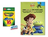 Green Toy Story 3 Coloring & Activity Book and 16 Crayola Crayons Box (Pack of 2)