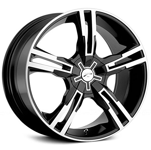 Platinum 292B Saber FWD Gloss Black with Diamond Cut and Clear Coat Wheel (17×7.5″/5x110mm, +42mm offset)